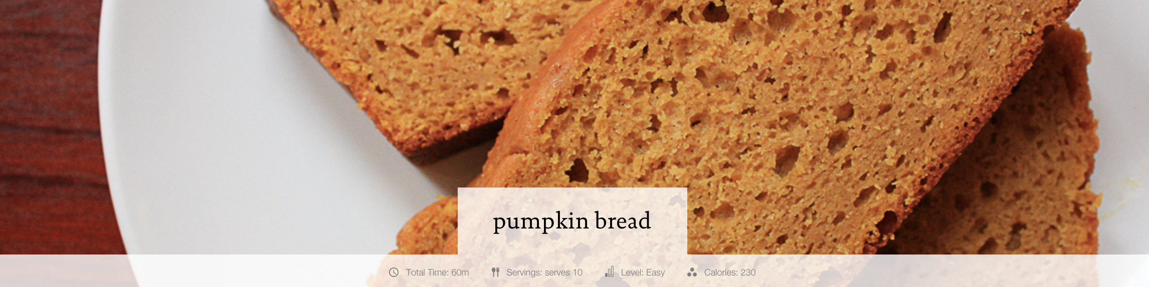 Siggi's Pumpkin Bread