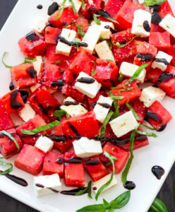 Balsamic Watermelon Feta Salad