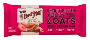 nutritious Peanut Butter Jelly & Oats Bob's Better Bar snacks