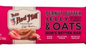 nutritious Peanut Butter Jelly & Oats Bob's Better Bar snacks