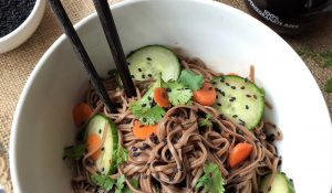 Recipe POM Wonderful Ginger Tamari with Vegan Asian Soba Noodles
