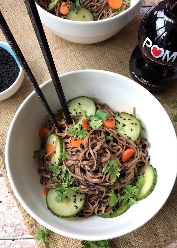 Recipe POM Wonderful Ginger Tamari with Vegan Asian Soba Noodles